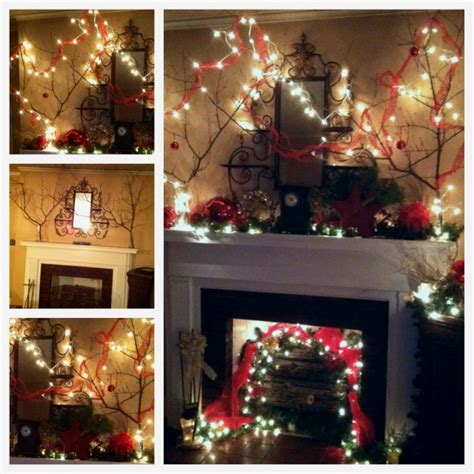 mantel decor my simple winter mantel lighted branches epsom salt and urn christmas mantel and fireplace decor tree branches