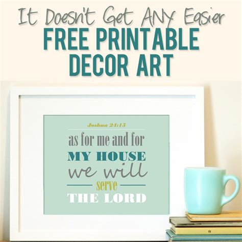 joshua 24 15 free printable printable decor