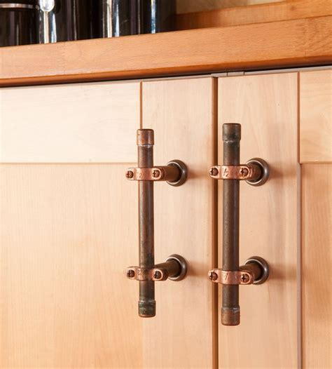 copper kitchen cabinet hardware industrial copper cabinet handles pvc metal pipe