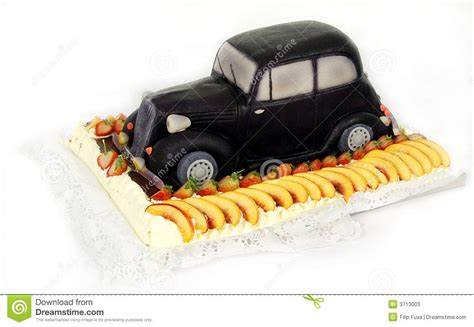 kuchen auto spezieller kuchen altes auto stockfotos bild 3713003
