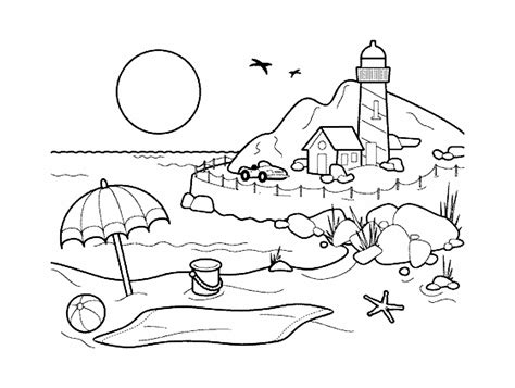 Coloring Pages Of Landscapes | landscapes coloring pages coloring home