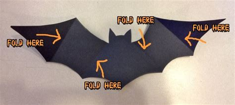 How To Make A Bat With Paper - crafts paper bat wall for free s