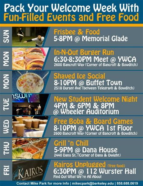 week events pin by schuman on welcome week
