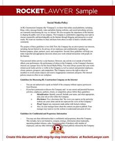 social media policy template for employees social media policy template company social media policy