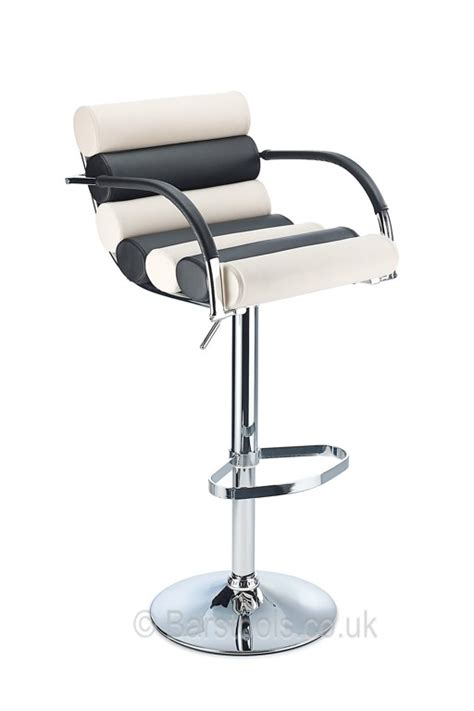 Black And White Bar Stool Psyche Bar Stool Black White