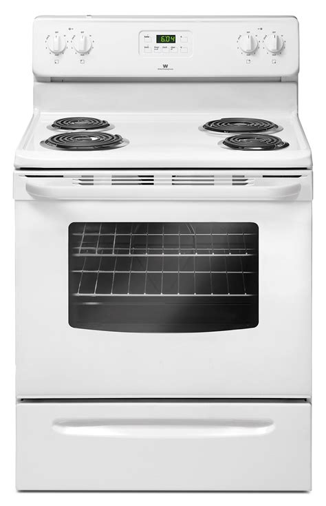Freestanding Kitchen Furniture white westinghouse 4 8 cu ft freestanding electric range