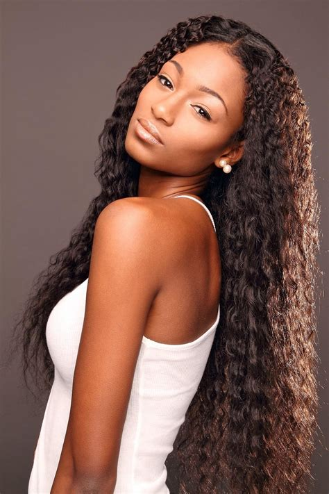 curly long weave black women hairstyles hairstyle picture magz