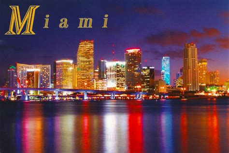 miami city skyline at night my favorite views florida miami skyline at night