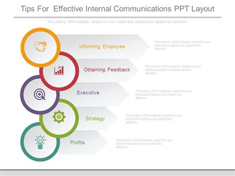 layout presentation tips tips for effective internal communications ppt layout