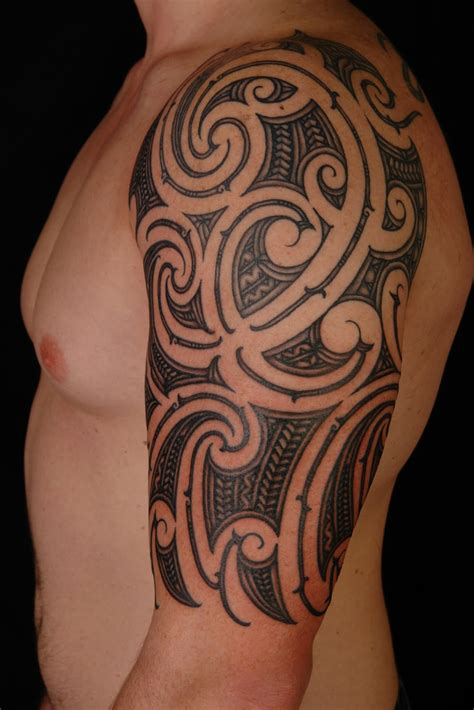 arm tribal tattoo on my half sleeve 44 maori half sleeve