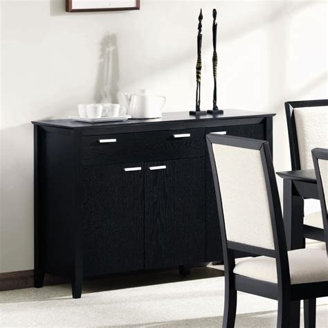 black wood buffet coaster 101565 black wood server a sofa furniture