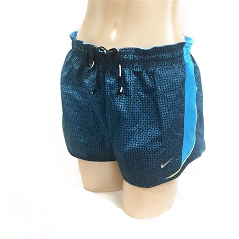 blue patterned shorts nike nike dry fit blue patterned running shorts from