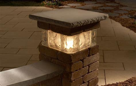 patio pillar lights 17 best ideas about concrete block retaining wall on