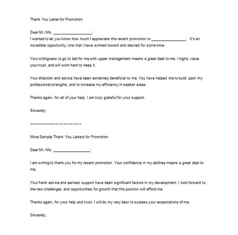 Promotion Goodbye Letter Thank You Letter To 9 Free Word Excel Pdf Format Free Premium Templates