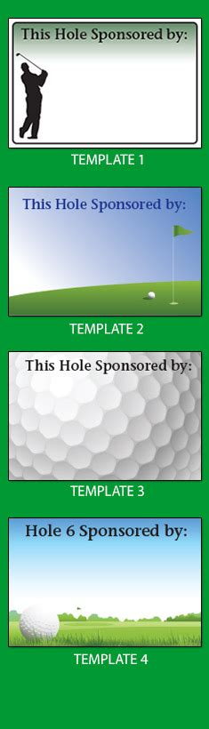 Golf Tournament Signs Canada Canadian Supplier Golf Hole Sponsor Signs This Hole Golf Sponsor Sign Template