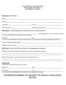 Notice Of Privacy Practices Template by Patient Information Levardo Dental
