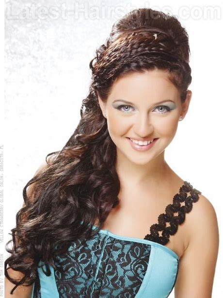 quinceanera hairstyles for long hair with curls and tiara quinceanera hairstyles for long hair