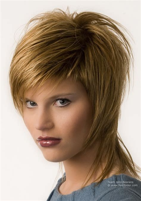 shaggy neckline hair cit for older women strawberry blonde chopped shag haircut with hair that