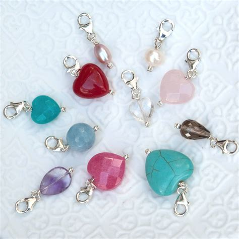 semi precious and pearl charms by hurleyburley