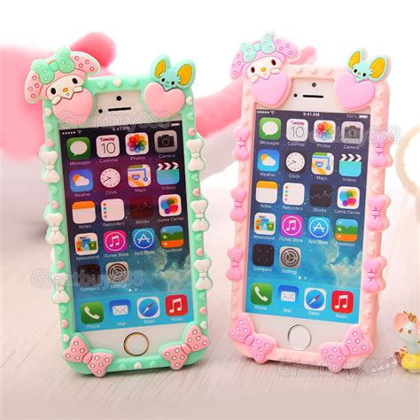 Silicon Melody Iphone 6 S Iphone 6 S Note 4 new 3d my melody soft silicone cover for iphone 6 4 7 quot 5s ebay