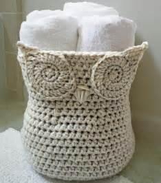 Crochet owl basket pattern arts to crafts