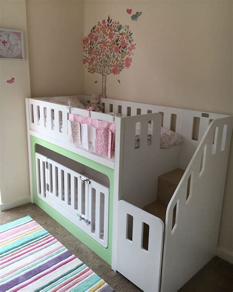 baby crib bunk beds best 20 bunk bed crib ideas on