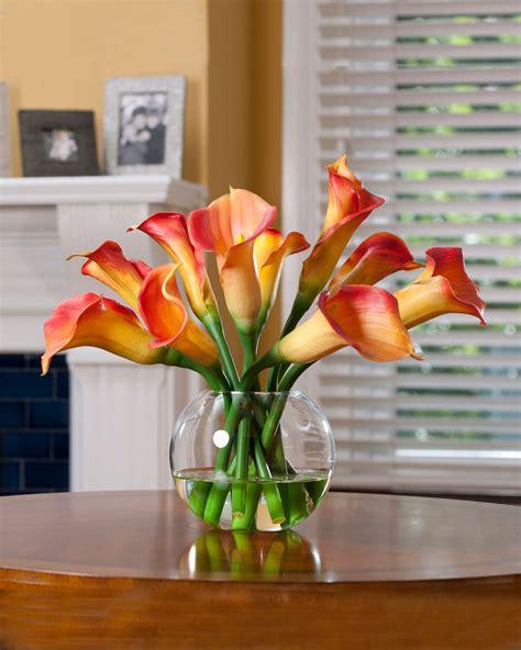 buy calla lily silk flower centerpiece  petals