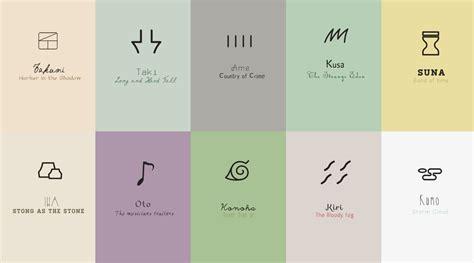 Naruto Village Symbols