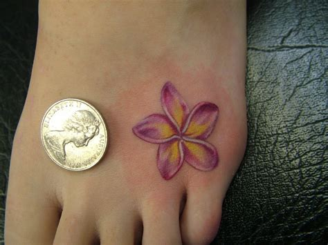 plumeria tattoo designs small design for foot tattoos
