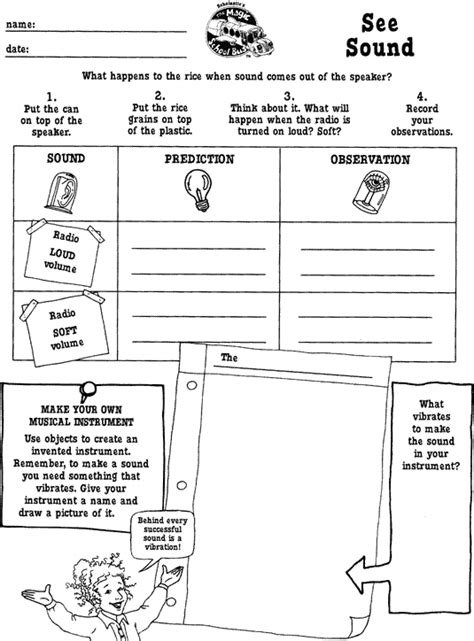 the magic school worksheets see sound printable scholastic