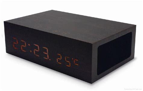 wooden bluetooth speaker with alarm clock temperature w1 no brand china manufacturer