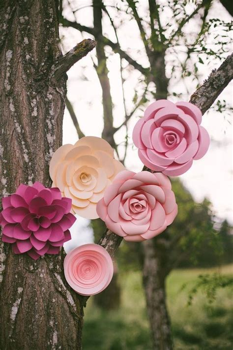 rustic paper flower tutorial floral wedding paper flowers and rustic on pinterest