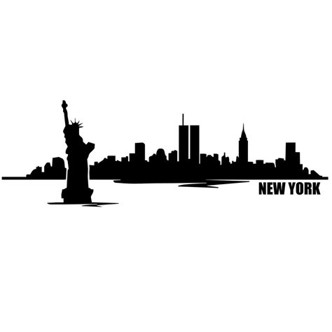 white silhouette new york skyline black and white silhouette www imgkid