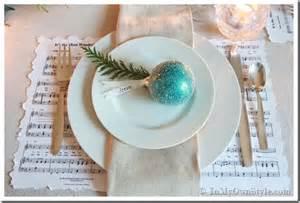 Place Setting Ideas christmas table setting log tea light centerpiece in