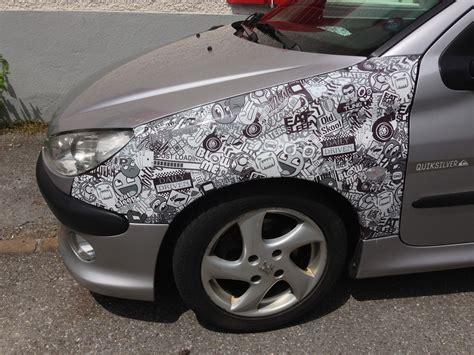 Sticker Folie Bestellen by Sticker Bomb Folie Schwarz Weiss Cars Auto