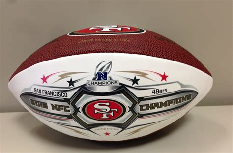 Limited Bola Tenis Chionship Isi 3 Terbaik charitybuzz limited edition san francisco 49ers 2012 nfc