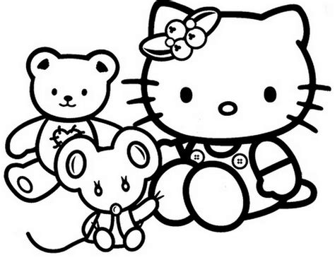 Hello Kitty Birthday Coloring Pages   GetColoringPages.com