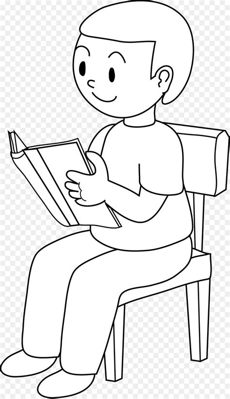 White Sitting Chair by Sitting Chair Black And White Drawing Clip Boy
