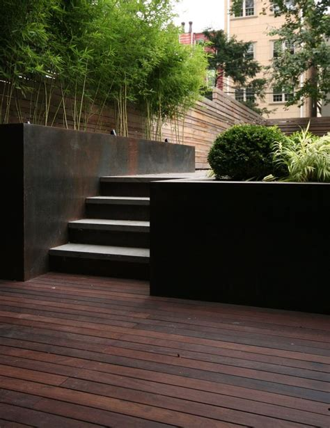 modern retaining wall ideas planting along the outdoor stairs the wall finish can be