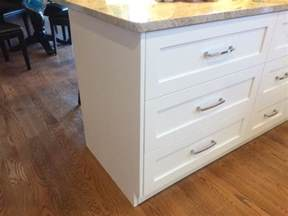 Kitchen Island With Drawers Kitchen Island Overlay Drawer Stacks Should End Panels Cover Drawers Doityourself