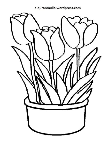 sketsa bunga: Sketsa Gambar Mozaik Bunga