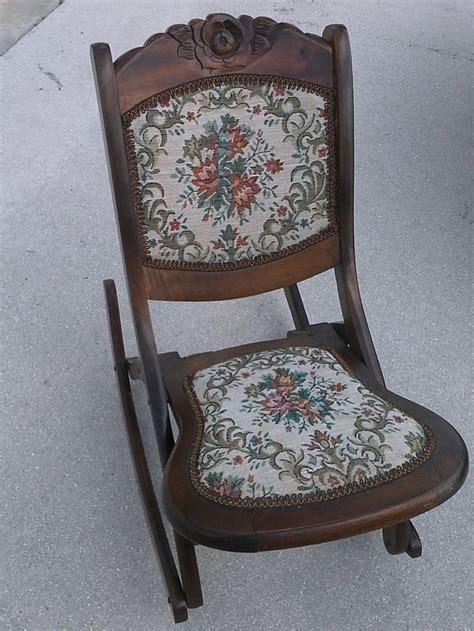 Vintage folding rocking chair wood sewing nursing rocker - Wood Folding  Chairs Ebay - Vintage Folding - Antique Folding Rocking Chair Value Antique Furniture
