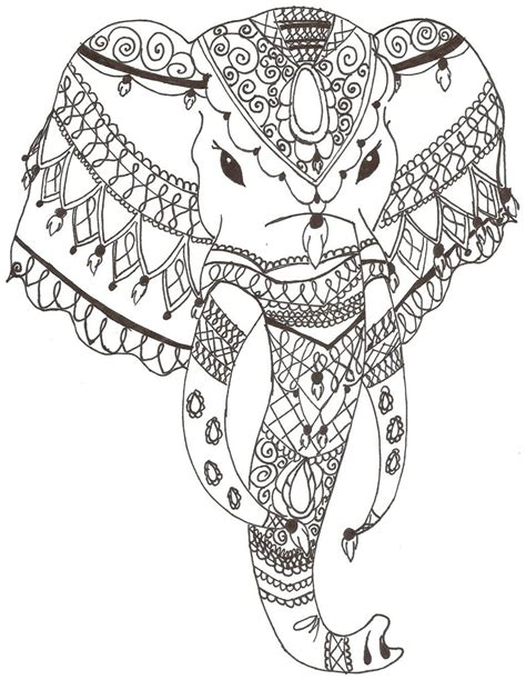 pattern drawing indian indian elephant by grafin drachen on deviantart