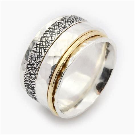 Fidget Spinner Ring Gold unisex spinner ring spinner ring silver and gold
