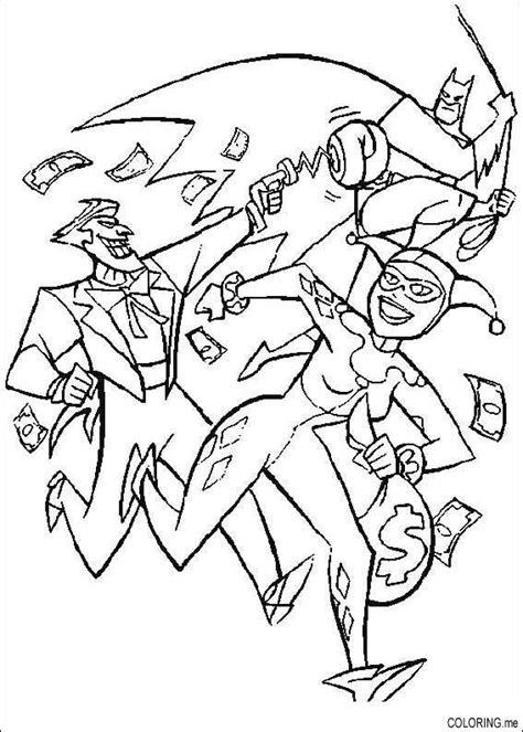 Coloring Page Batman Joker And Money Coloring Me Batman And Joker Coloring Pages