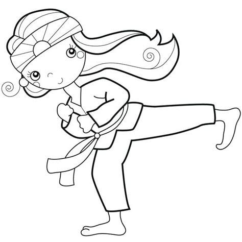 taekwondo coloring pages  getcoloringscom