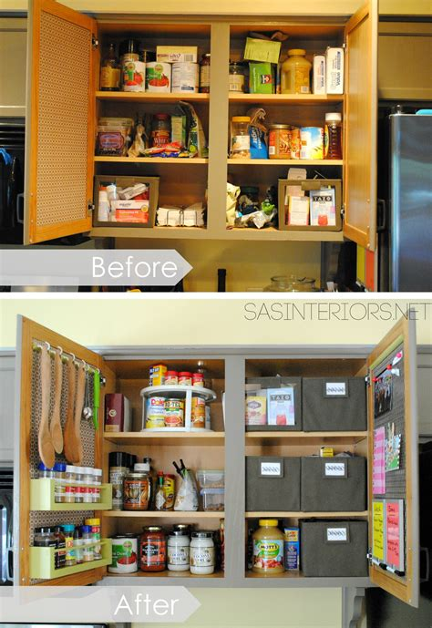 cupboard organizers kitchen organization ideas for the inside of the cabinet doors burger
