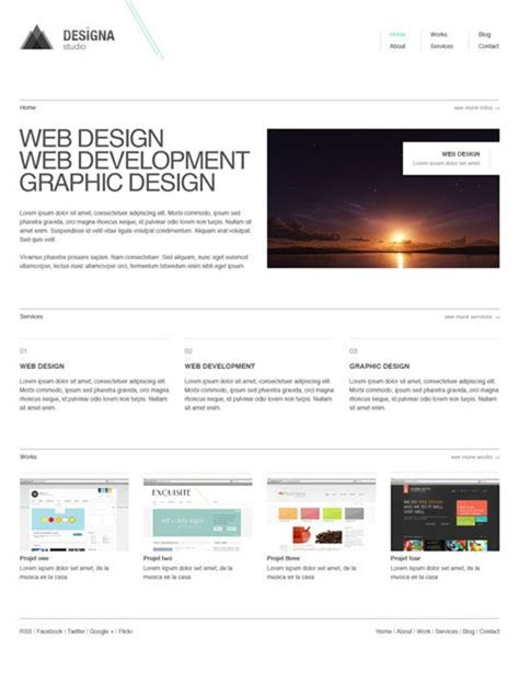 free minimal html template 25 free minimal and clean style xhtml css website