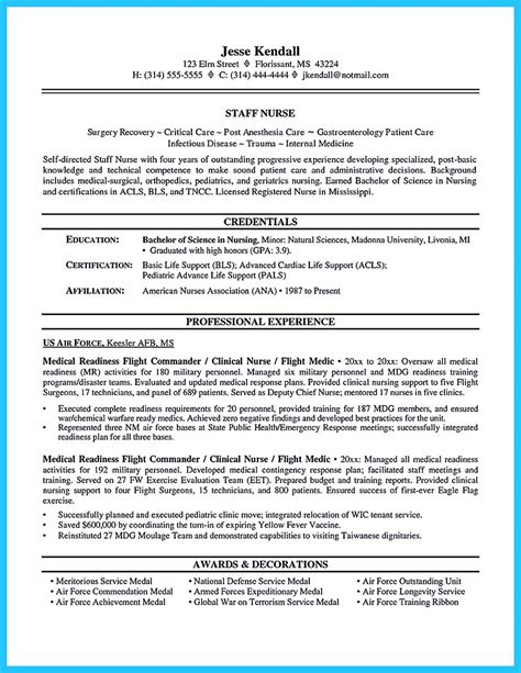 Resume For Anesthetist Crna Resume To Get Noticed By Company