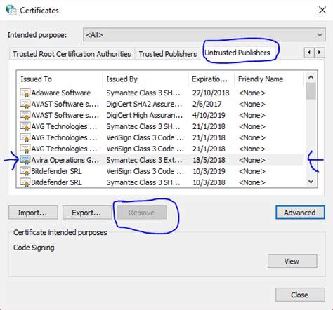 Unblock Publisher In Windows 10 Microsoft Community   unblock an untrusted publisher in windows 10 microsoft